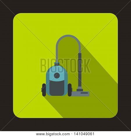Vacuum cleaner icon in flat style with long shadow. Home appliances symbol