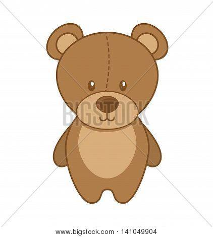 bear teddy toy icon vector illustration design