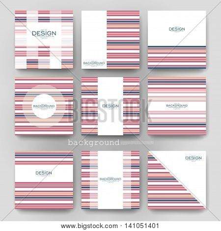 abstract striped vector brochure template. Flyer Layout. Creative modern design