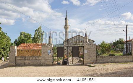 The mosque Uzbek Khan (14th century) - an active mosque in Staryi Krym, Crimea