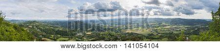 Panorama from the Village of Montechiaro d'Acqui Italy