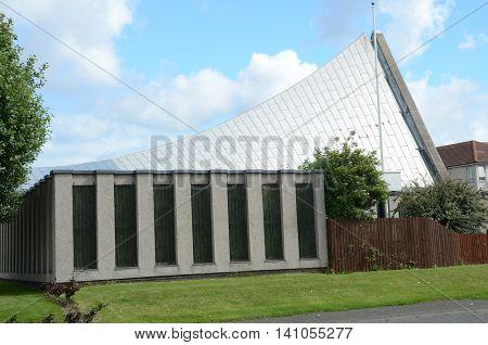 An external view of a modern church in Rosyth