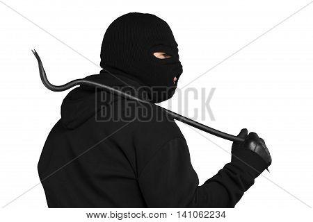 Portrait of a Thief Holding a Crowbar