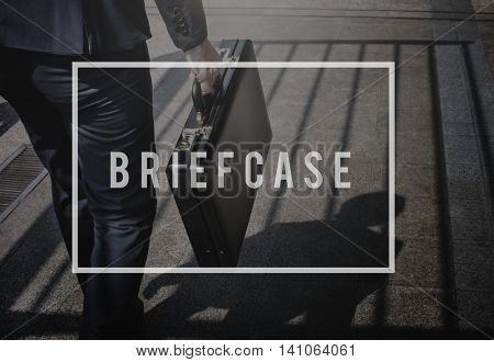 Brief Case Business Baggage Luggage Storage Concept