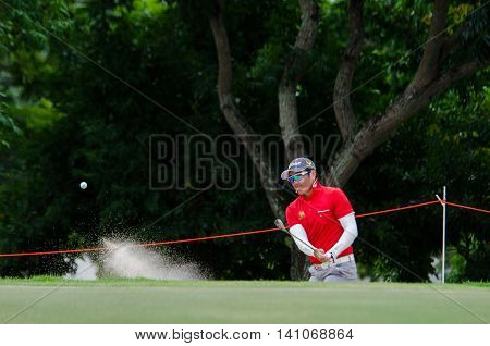 CHONBURI - JULY 31 : Sataya Supuramai of Thailand in King's Cup 2016 at Phoenix Gold Golf & Country Club Pattaya on July 31 2016 in Chonburi Thailand.