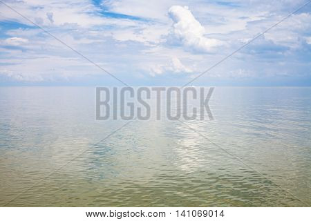Calm Water Surface Sea Of Azov