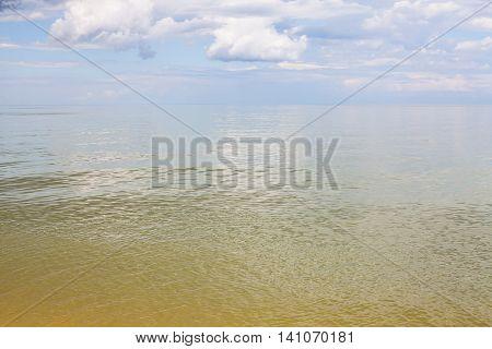 Yellow Green Calm Water Sea Of Azov