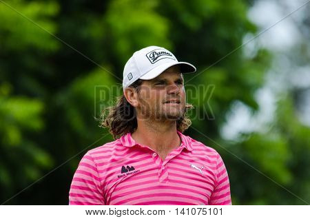 CHONBURI - JULY 31 : Johan Edfors of Sweden in King's Cup 2016 at Phoenix Gold Golf & Country Club Pattaya on July 31 2016 in Chonburi Thailand.