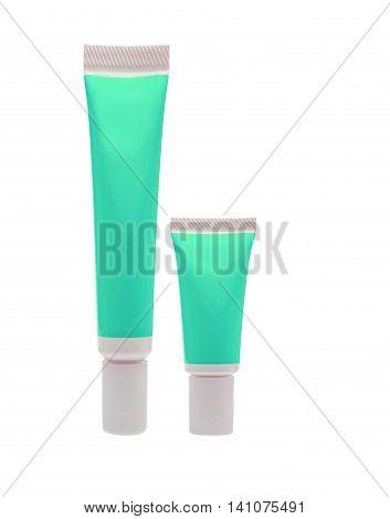 Green Cosmetic Tube