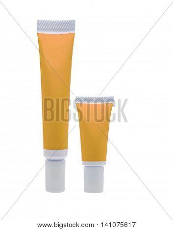 Orange Cosmetic Tube