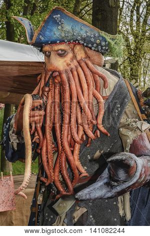 Haarzuilens, Netherlands - April 19: The Elf Fantasy Fair (Elfia) is an outdoor fantasy event in the Netherlands, taken April 19, 2014 in Haarzuilens, Netherlands.