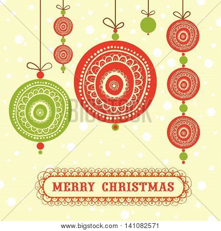 Seamless abstract background with Christmas decorations. Seamless xmas decoration.