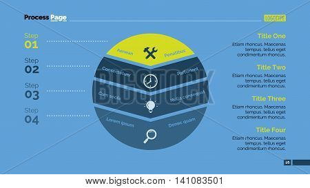 Slice chart. Element of presentation, circle diagram, chart. Concept for business templates, infographics, presentation, reports. Can be used for topics like business strategy, marketing, planning