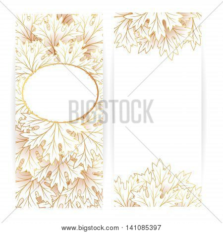 Autumn leaves banners. Vector illustration. Flayer template.