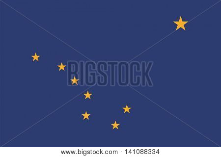 Vector State of Alaska flag