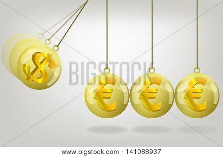 Vector euro money crisis concept art .