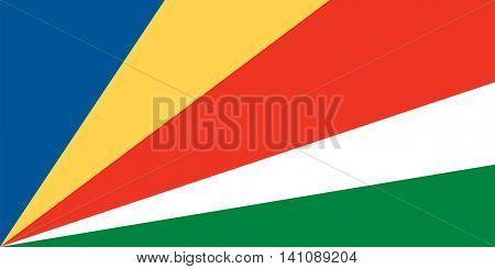 Vector Seychelles national flag