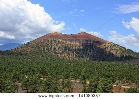 Sunset Crater a cinder cone volcano located north of Flagstaff Arizona