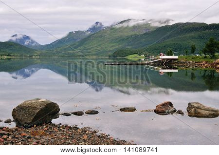 Landscape of Northen Norway, Scandinavia, summer time