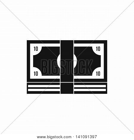 Bundle of money icon in simple style isolated on white background. Finance symbol