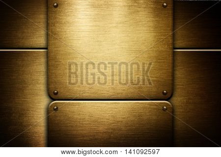 double golden iron plate background