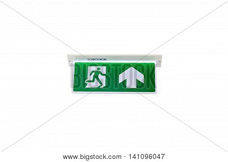 Emergency Exit Or Fire Exit Isolated On White Background