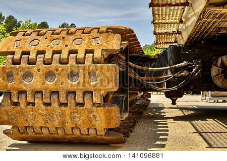 Large Industrial Crane Tracks