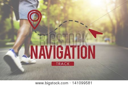 Navigation Gps Pilot Planning Position Route Concept