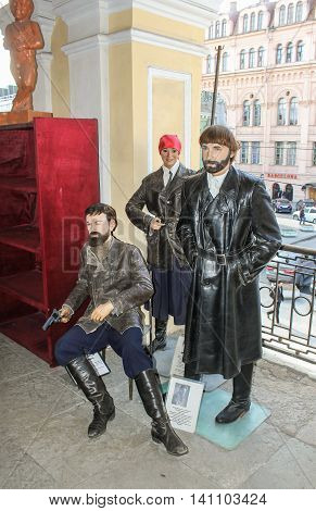 St. Petersburg, Russia - 9 April, The composition of the Soviet Bolsheviks, 9 April, 2016. Wax Museum Gallery large Gostiny Dvor.