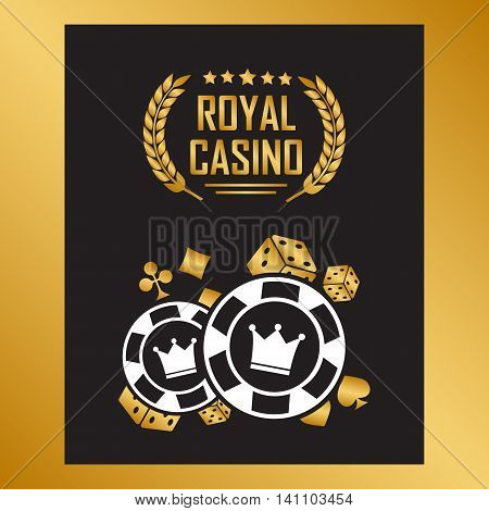 Casino poster with poker play chips eps10