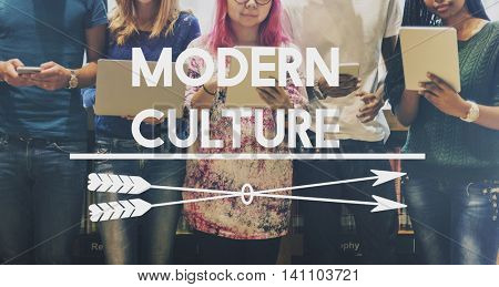 Modern Culture Distinction Society Thinking Values Concept