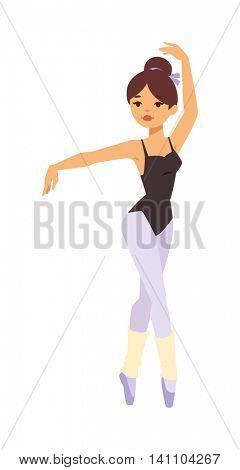 Ballerina dancer vector girl