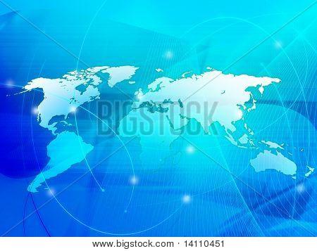 tecnologia-estilo de mapa do mundo