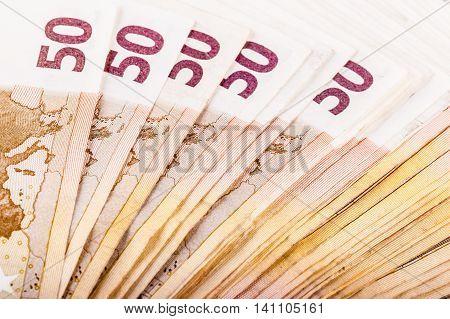 Lot Of Euro Banknotes