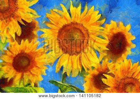 SunflowersVan Gogh style
