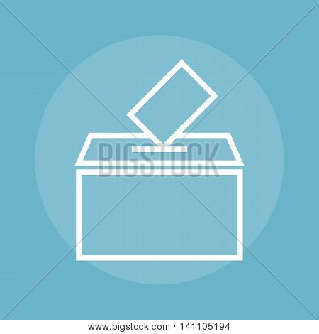 Empty transparent ballot box with marked ballot eps 10