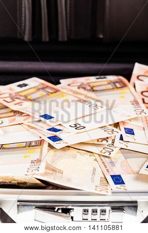 Suitcase Filled With Euros