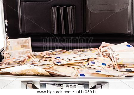 Suitcase Filled With Banknotes