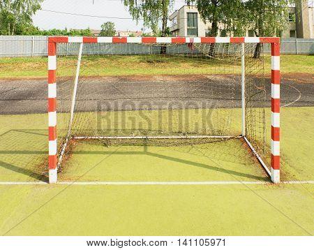 Gate For Small Football Or Handball In Small Stadium.