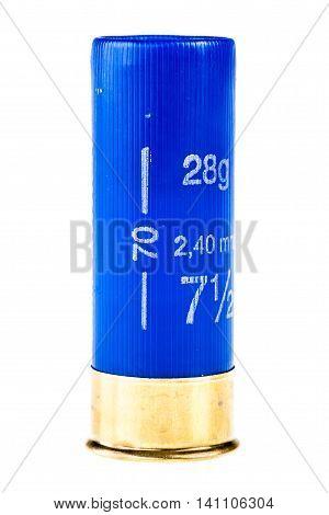 Blue Shotgun Shell Isolated