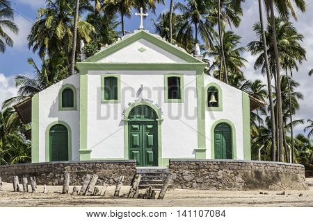 Catholic Church Of Saint Benedict In Sheep Beach In Northeast Brazil