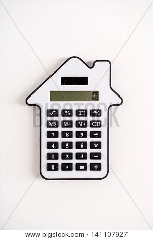 calculator on the white
