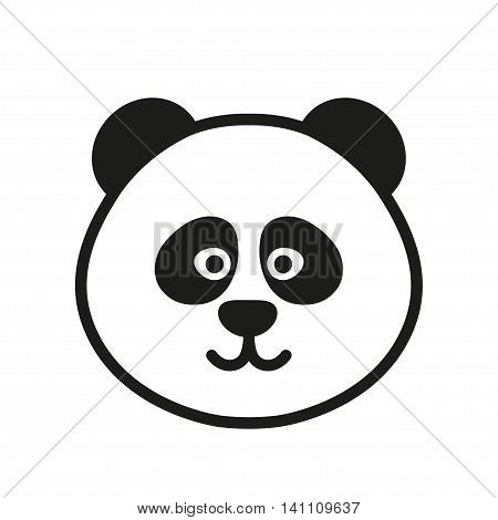 Cute panda icon or logo. Vector illustration