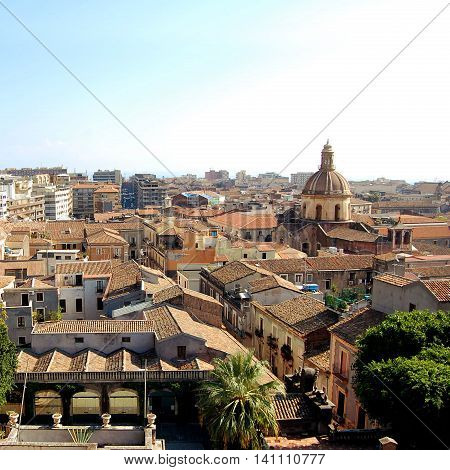 View Of Catania City Center From The Rooftop.