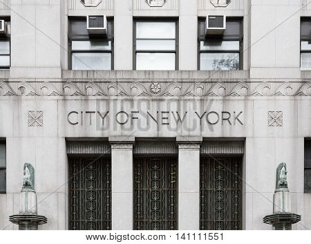 City Of New York Government Building