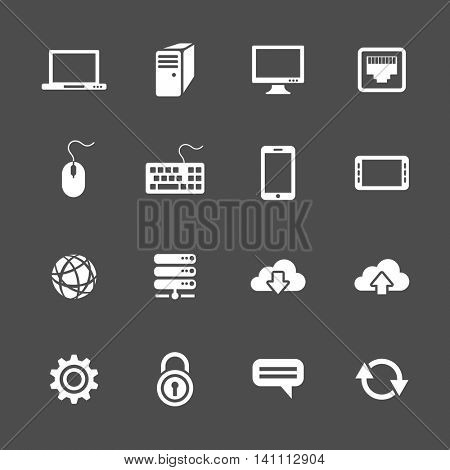 Simplus icons series. Network and mobile devices. Network connections