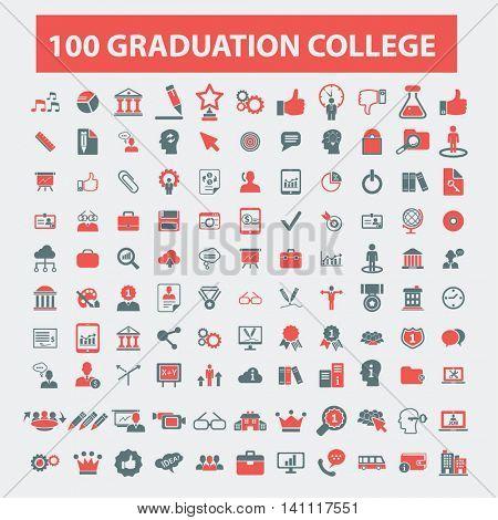 graduation college icons
