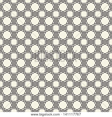 Weaving, Seamless monochrome Celtic knot pattern, black and white