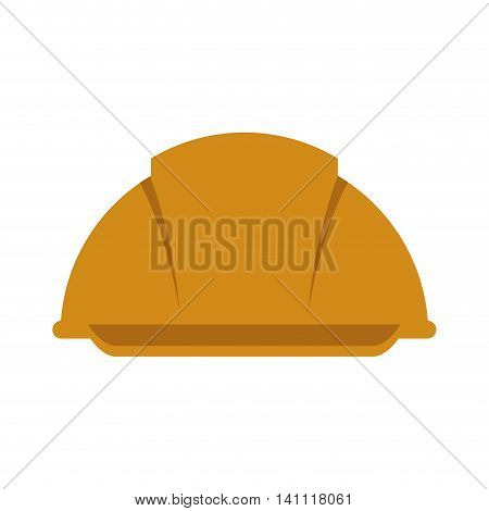 helmet constructer worker industry icon. Isolated and flat illustration. Vector graphic