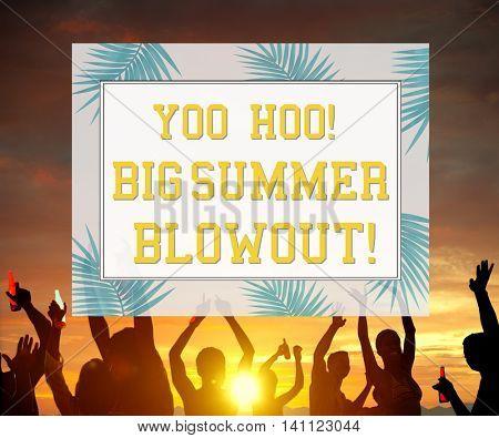 Let's Celebrate Festivity Summer Happy Concept